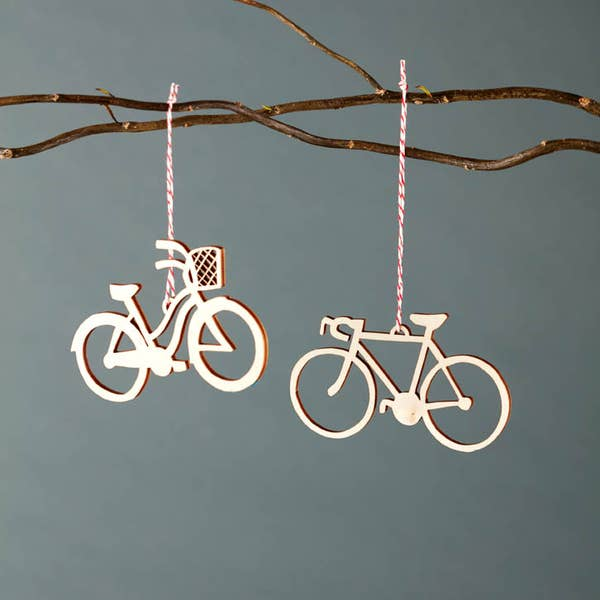bike ornament set of 2