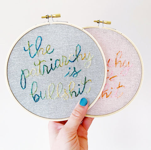 Patriarchy / Hand-Stitched Embroidery