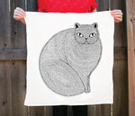 Persian Cat Tea Towel