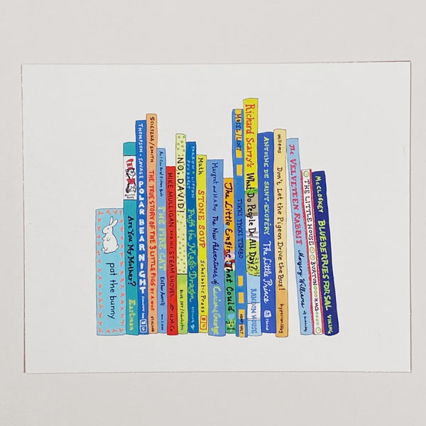 Picture books art print