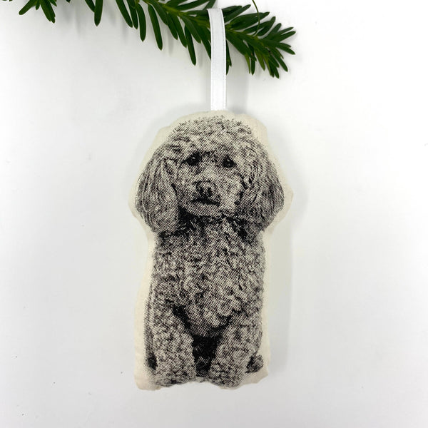 Poodle Plush Ornament