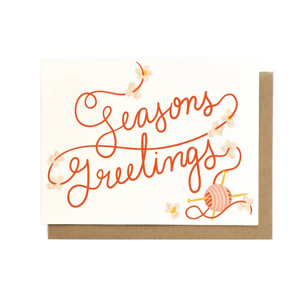 Seasons Greetings Popcorn Garland Card