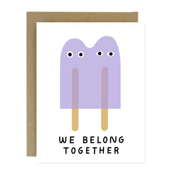 Card with popsicles