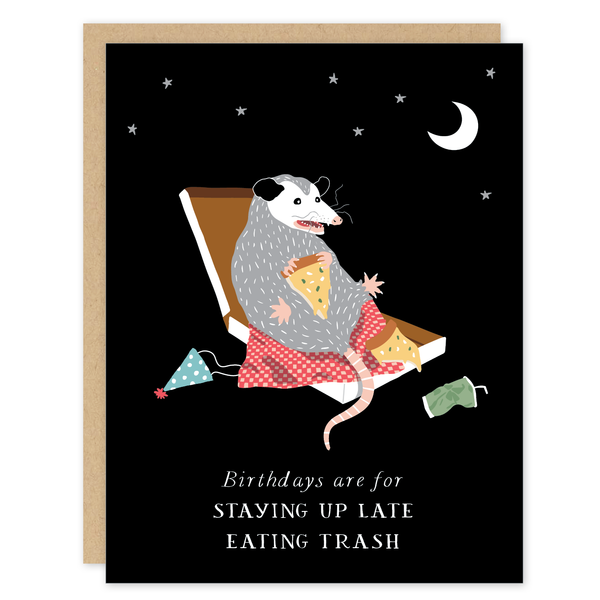 Possum Pizza Birthday Card