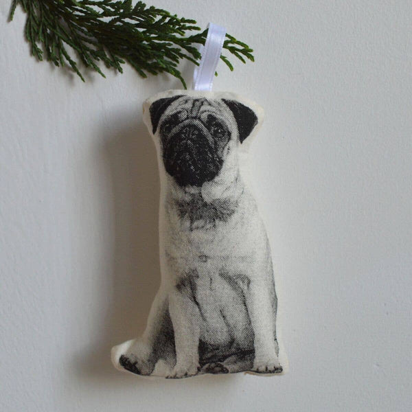 Pug Plush Ornament