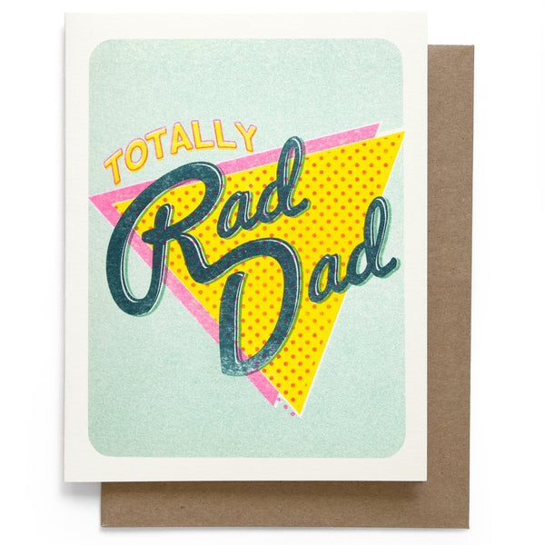 Totally Rad Dad 80s style greeting card