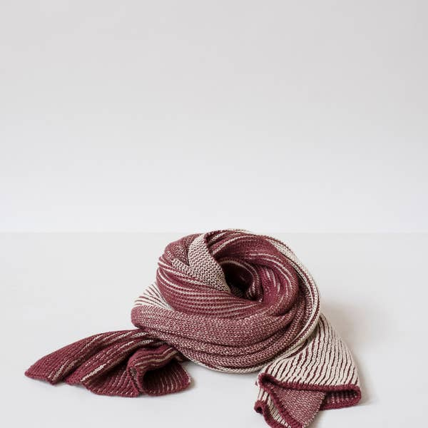 Two Tone Scarf in Red