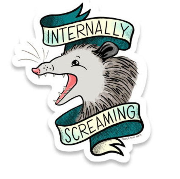 Internally Screaming Sticker