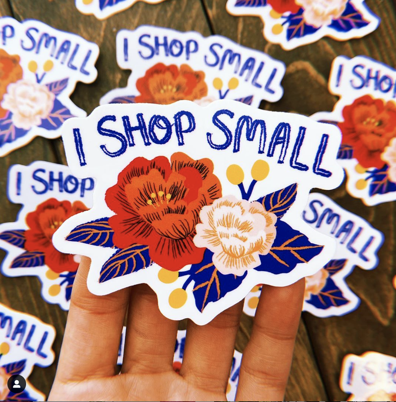 Shop small sticker = floral