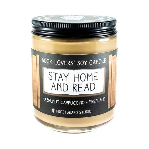 Stay Home and Read Candle
