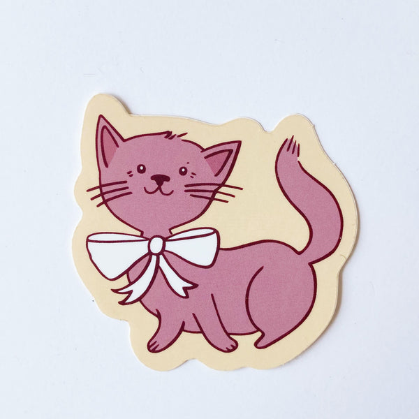 Pink Cat Sticker