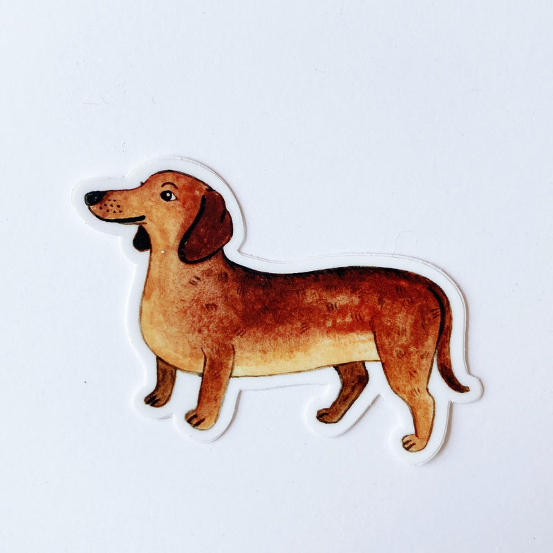 Doxie Brown Vinyl Sticker