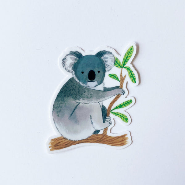 Koala hugging branch Sticker