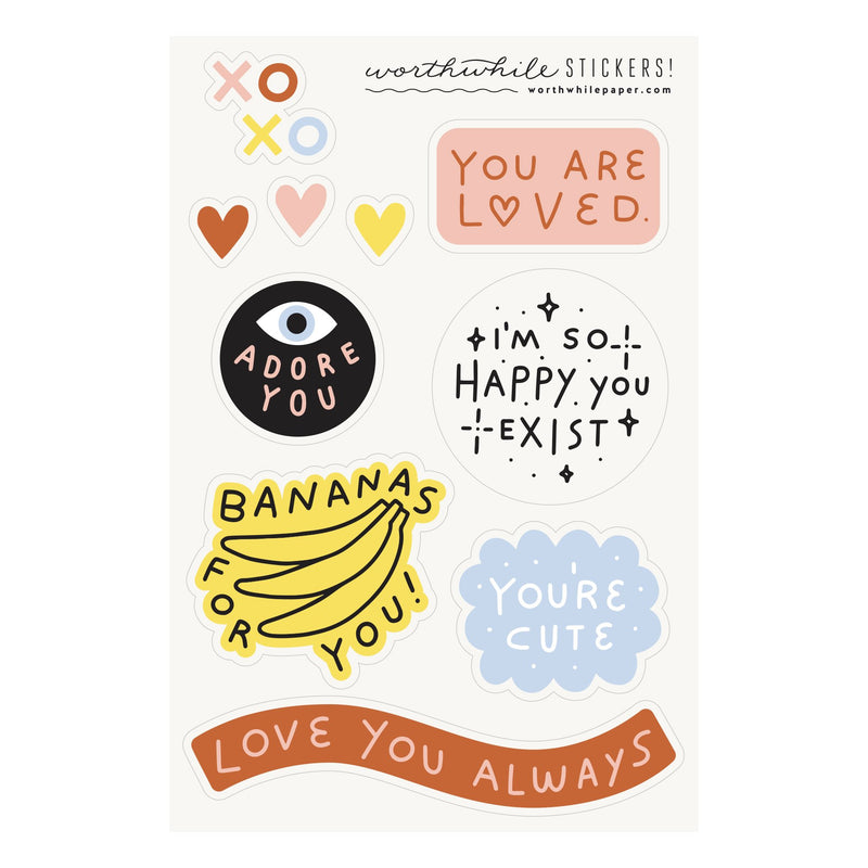 You Are Loved Sticker Sheet