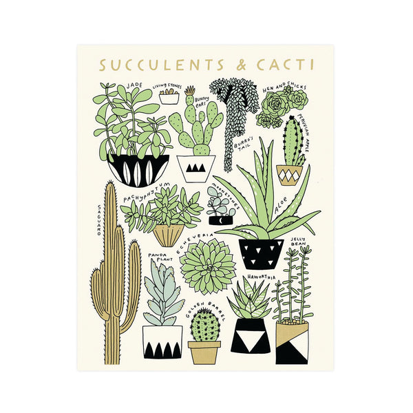 Cacti and Succulent Art Print