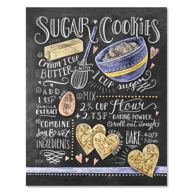 Sugar Cookie Recipe Art Print