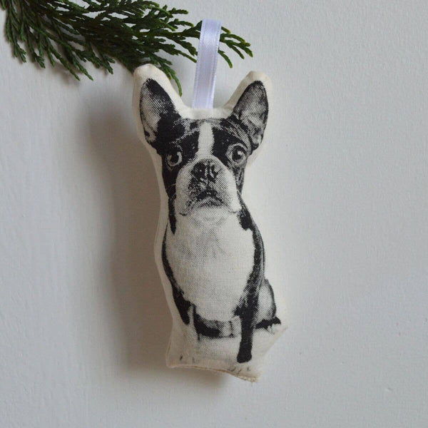 Boston Terrier Plush Ornament