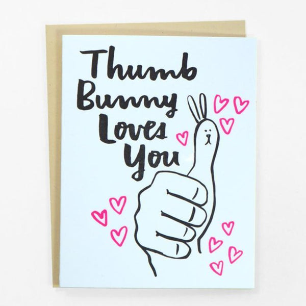 Thumb Bunny Loves You Valentine's Day Card