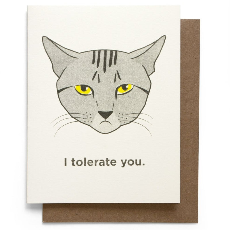 I tolerate You Greeting Card with cat