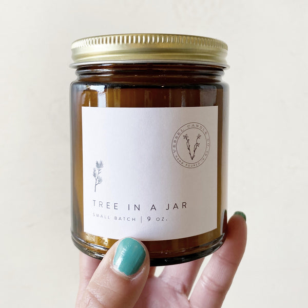 Tree in a Jar soy candle