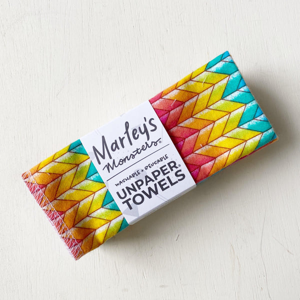 Eco-Friendly Unpaper Towels - Rainbow Chevron