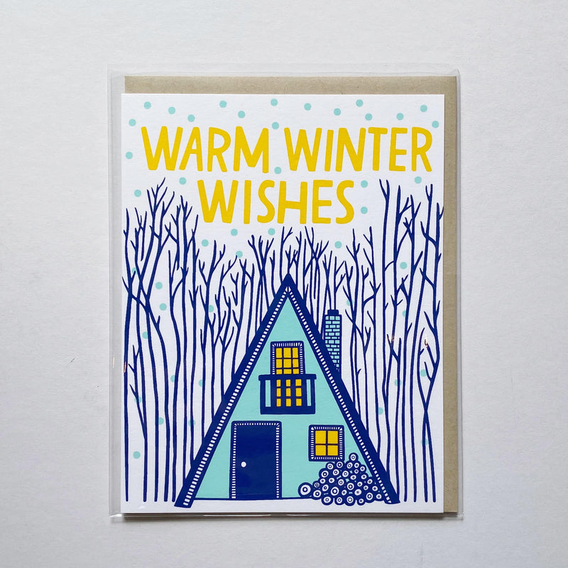 A Frame House Winter Wishes Card