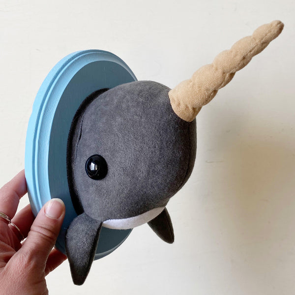 Large Narwhal Faux Taxidermy