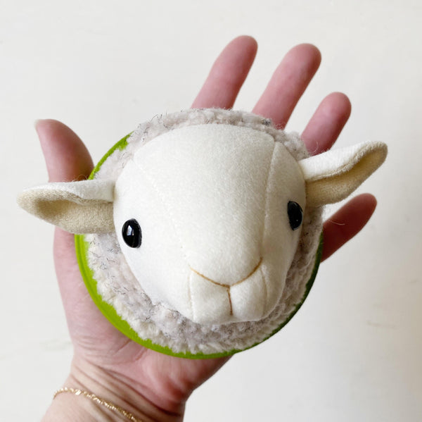 White Sheep Faux Taxidermy