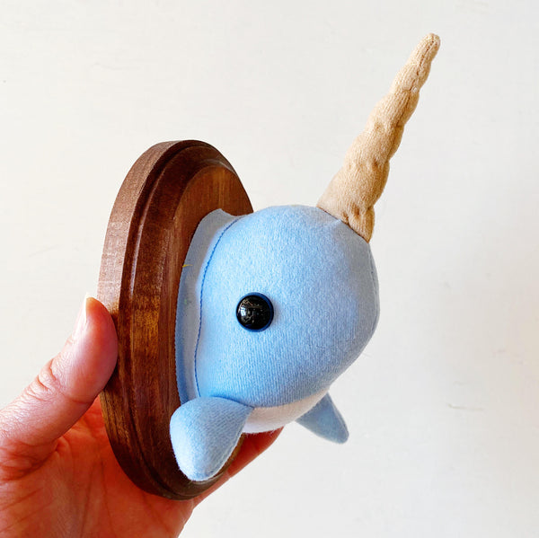 Narwhal Faux Taxidermy Wall Hanging