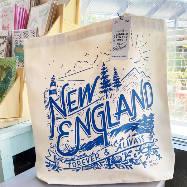 New England Forever Canvas Tote Bag