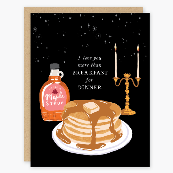 Breakfast for Dinner greeting Card