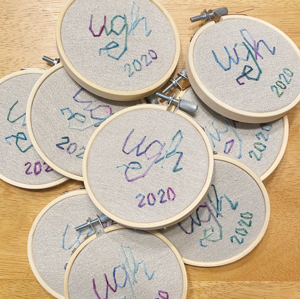 Ugh 2020 Embroidery Ornament