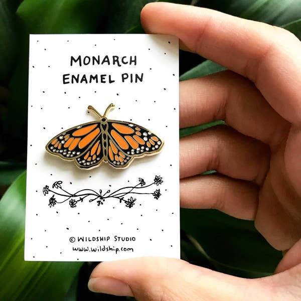 Enamel Monarch Pin