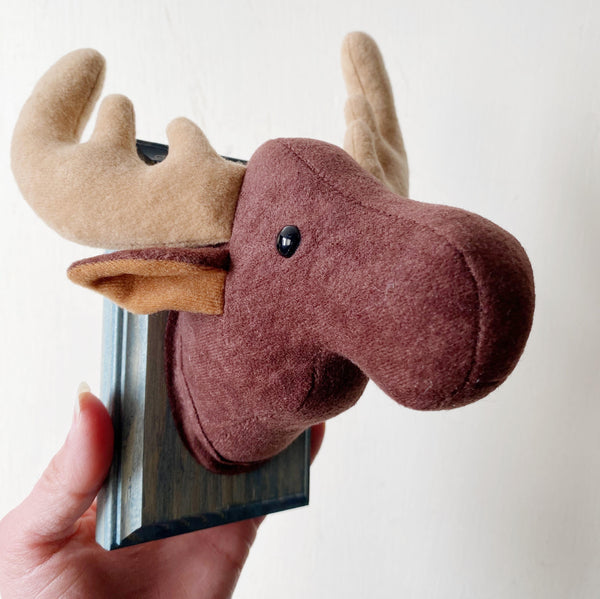 Brown Moose Faux Taxidermy Wall Hanging