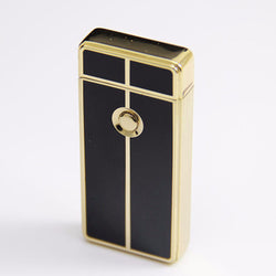 Male Metal USB Rechargeable Flameless Electric Arc Windproof Cigar Cigarette Lighter