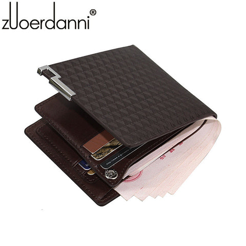 2016 Hot Sale Special Offer Men Genuine Leather Bag Wallets Zuoerdanni Mens Wallet Leather Short Purse A132