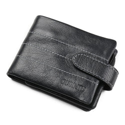 2016 Genuine Leather Men's Wallet Famous Brand Male Purse with Removable Zip Coin Bag Card Holders portafogli billeteras hombre