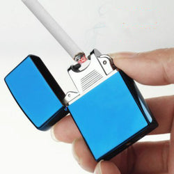 Fashion USB Electric Lighter Dual Arc Lighter Metal Flameless Torch Rechargeable Windproof Plasma Lighter No Gas