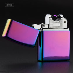 Cheap High Quality Metal USB Arc Lighter, Electric Pulse Arc Lighter, Ultra thin Windproof flameless cigarette lighter