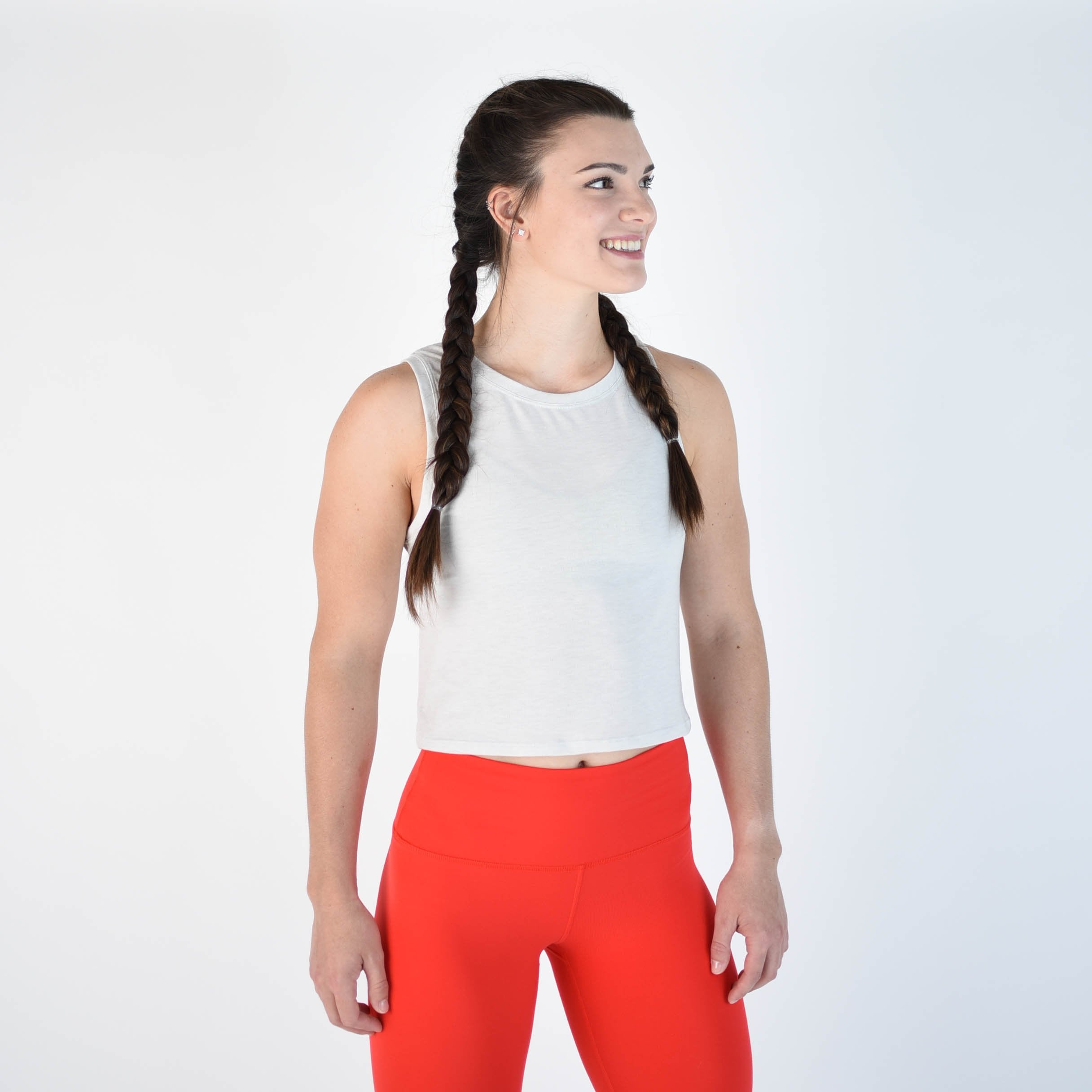 Dylan Muscle Crop - Glacier Gray