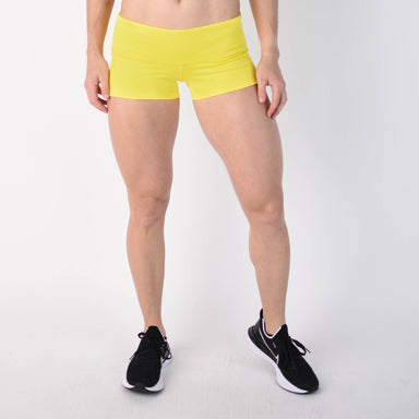 Neon Yellow Low Rise Contour - FLEO Shorts