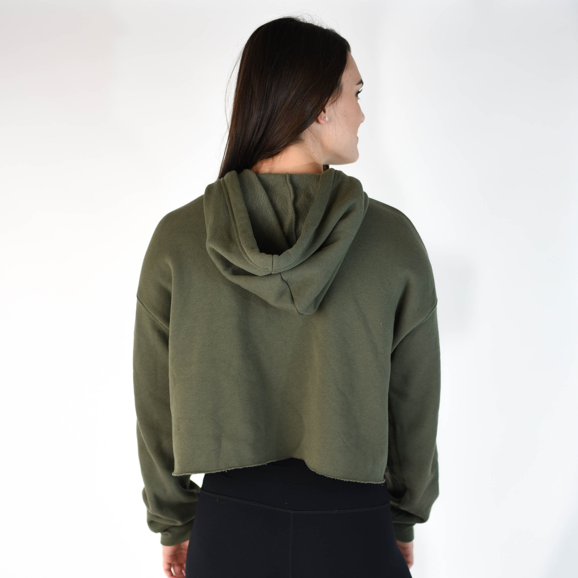 Volume Cropped Hoodie - Burnt Olive