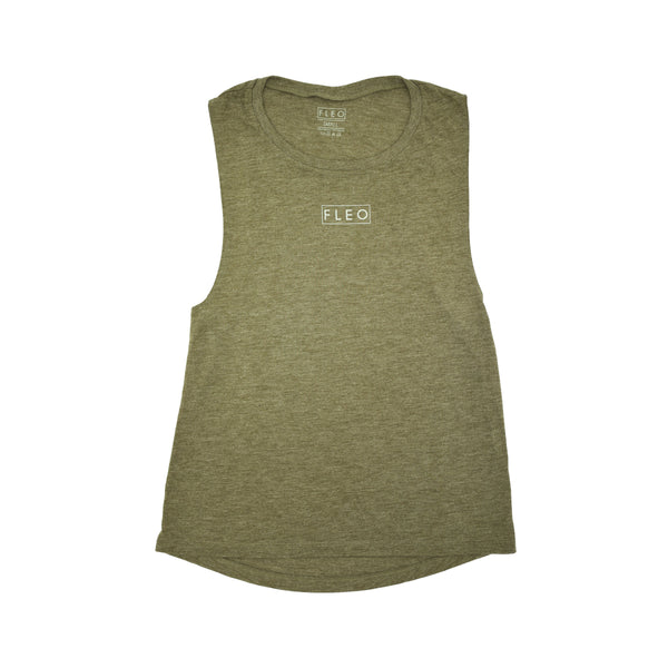 Muscle Tank - Heather Olive