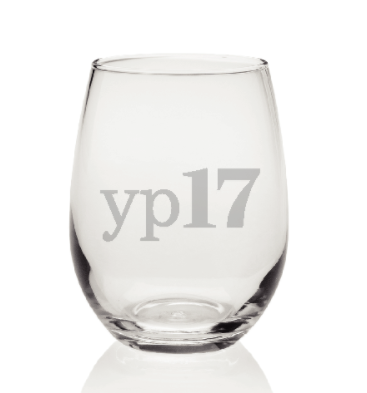 2017 YP of the Year stemless wine glass
