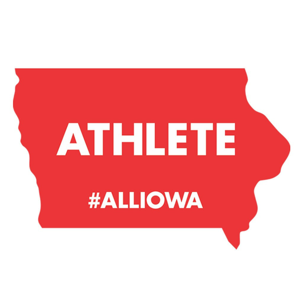 #AllIowa Athlete Sticker (Red)