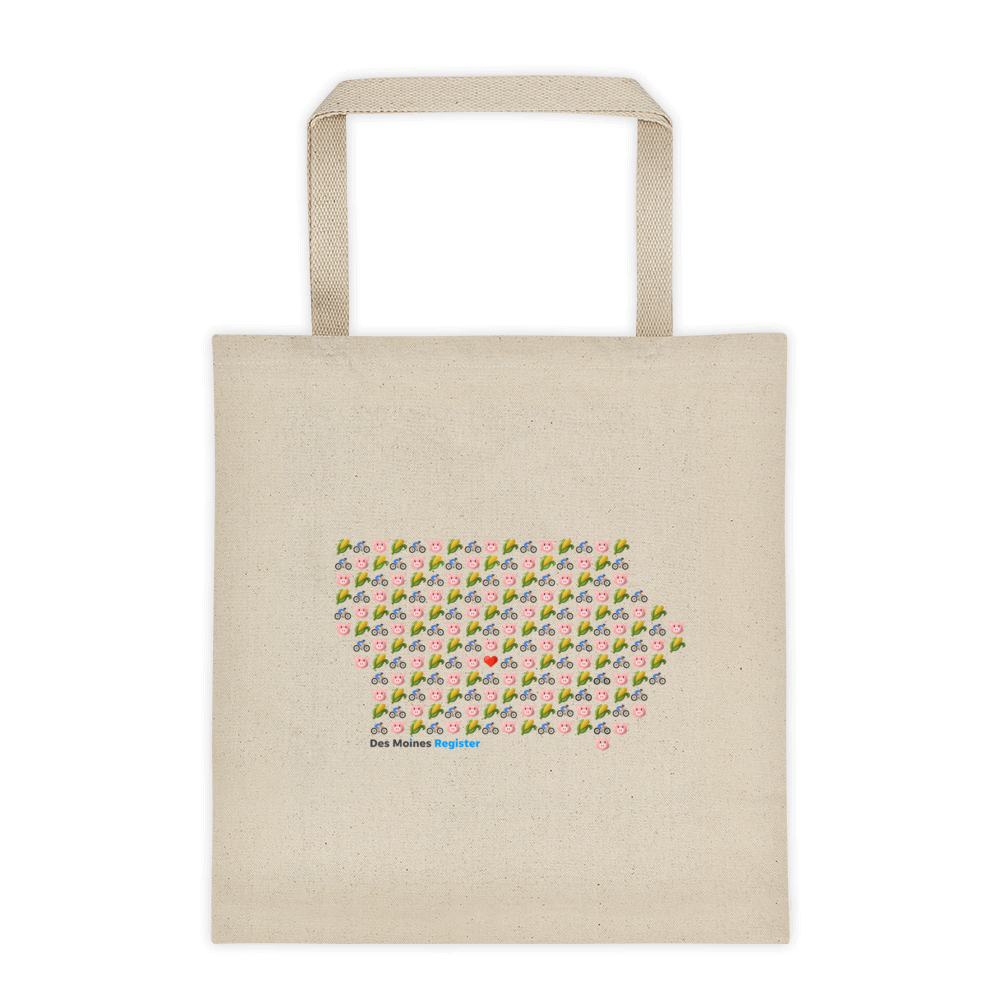 Emoji Iowa Tote Bag