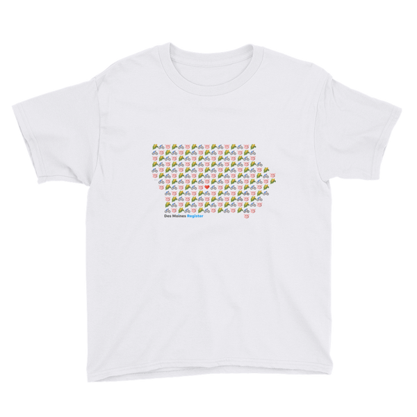 Emoji Iowa Youth T-Shirt