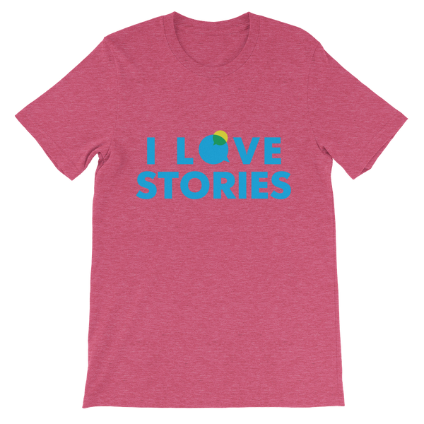 I Love Stories T-Shirt (Blue)
