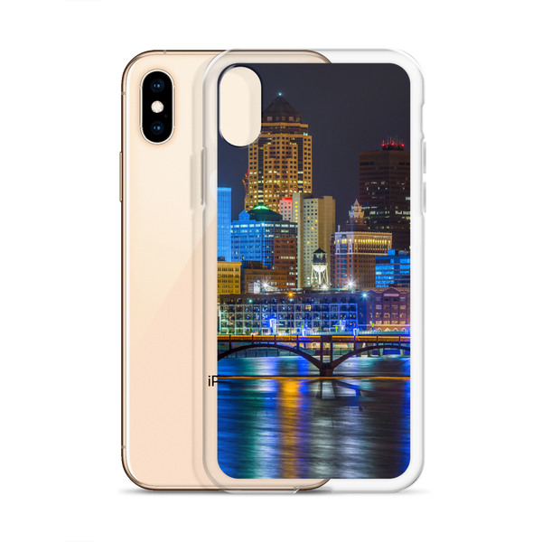 Des Moines Skyline iPhone Case