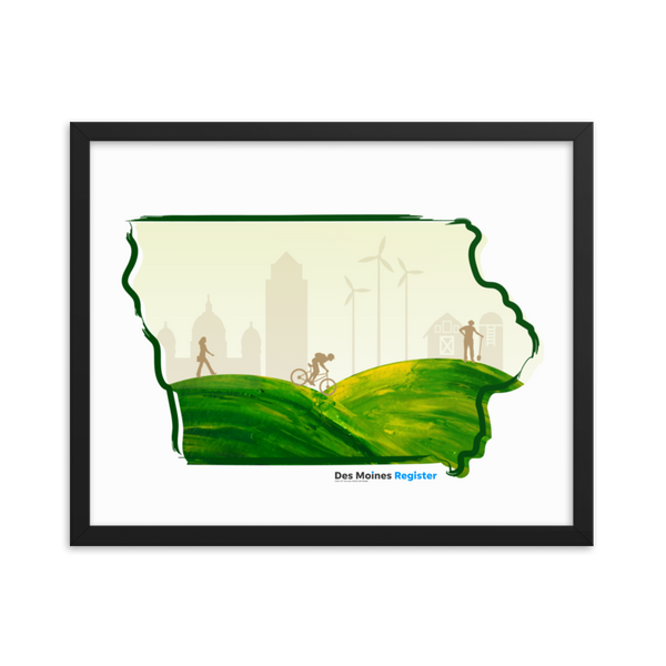 Framed Scenic Iowa Poster